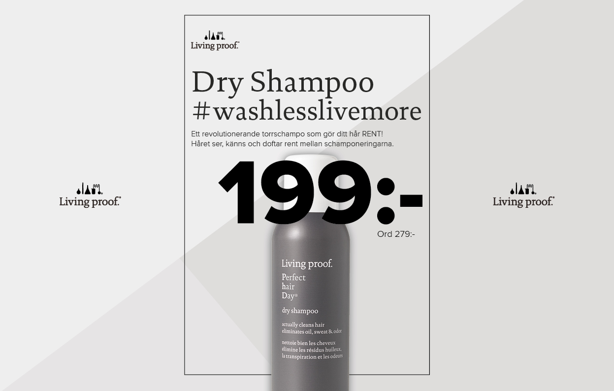 Konkavskylt Risbergs Dry Shampoo 199 kr
