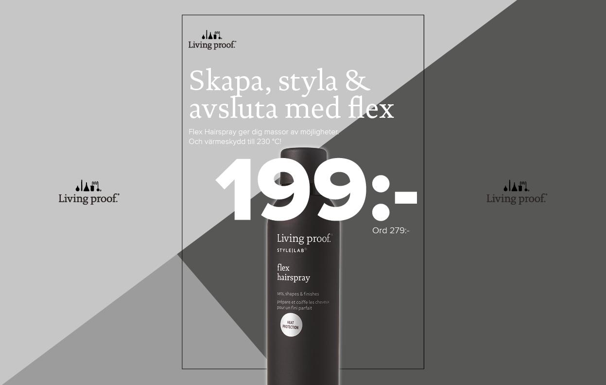Konkavskylt Risbergs Flex Spray 199 kr
