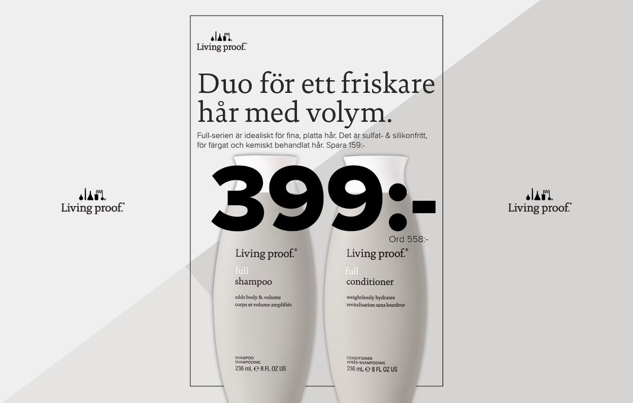 Konkavskylt Risbergs Full Shampoo Balsam 399 kr